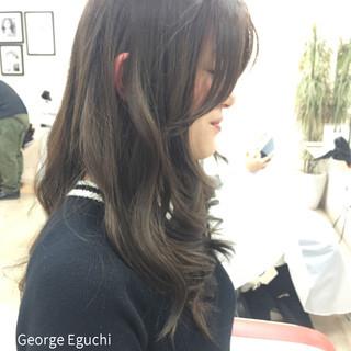 外国人風 グラデーションカラー ストレート ロング ヘアスタイルや髪型の写真・画像 ヘアスタイルや髪型の写真・画像