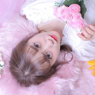 シースルーバング ヘアアレンジ アンニュイほつれヘア 撮影 ヘアスタイルや髪型の写真・画像