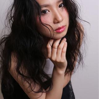 ヘアアレンジ 外国人風 モード 黒髪 ヘアスタイルや髪型の写真・画像