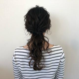 ヘアアレンジ ポニーテール 上品 簡単ヘアアレンジ ヘアスタイルや髪型の写真・画像 ヘアスタイルや髪型の写真・画像