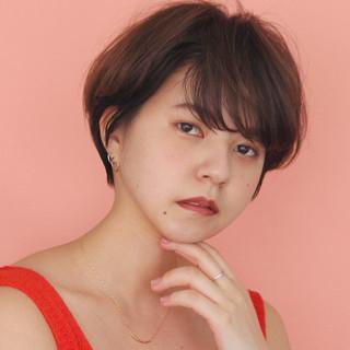 ショート ナチュラル パーマ 簡単ヘアアレンジ ヘアスタイルや髪型の写真・画像