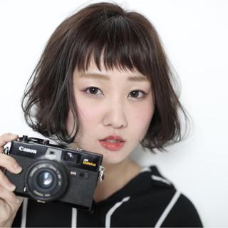 ナチュラル ショートバング ボブ ショートボブ ヘアスタイルや髪型の写真・画像 ヘアスタイルや髪型の写真・画像