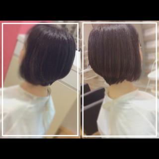 髪質改善トリートメント ボブ 艶髪 ショートヘア ヘアスタイルや髪型の写真・画像