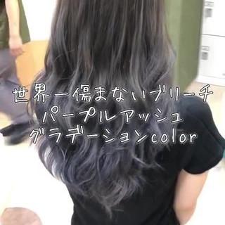 フェミニン ブリーチ 透明感 外国人風カラー ヘアスタイルや髪型の写真・画像