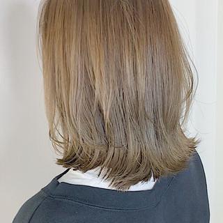 透明感カラー シアーベージュ ボブ ブリーチなし ヘアスタイルや髪型の写真・画像