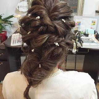 モテ髪 ゆるふわ 結婚式 ロング ヘアスタイルや髪型の写真・画像 ヘアスタイルや髪型の写真・画像