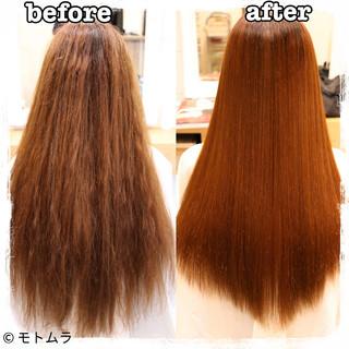 パーマ デジタルパーマ ストレート ロング ヘアスタイルや髪型の写真・画像 ヘアスタイルや髪型の写真・画像