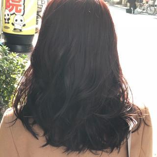 ナチュラル ピンクブラウン ミディアム ピンクアッシュ ヘアスタイルや髪型の写真・画像