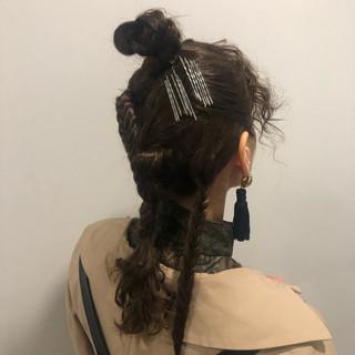 パーマ モード アンニュイほつれヘア ヘアアレンジ ヘアスタイルや髪型の写真・画像