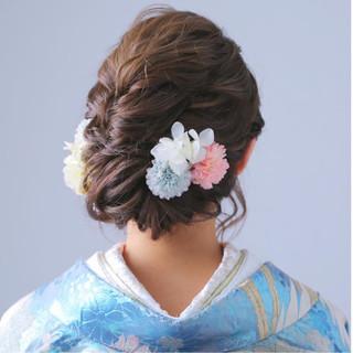 花嫁 和装 結婚式 ゆるふわ ヘアスタイルや髪型の写真・画像