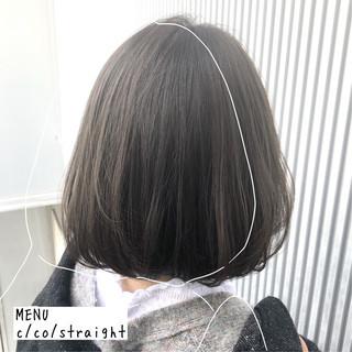 縮毛矯正 ボブ 髪質改善 ナチュラル ヘアスタイルや髪型の写真・画像