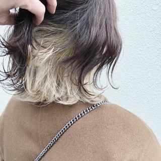 インナーカラー ダブルカラー 外国人風カラー ナチュラル ヘアスタイルや髪型の写真・画像