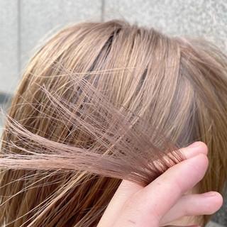 ナチュラルベージュ ヌーディーベージュ ボブ シアーベージュ ヘアスタイルや髪型の写真・画像
