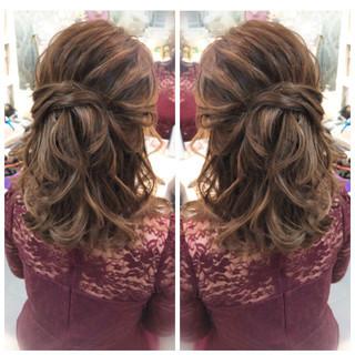 成人式 セミロング ナチュラル 簡単ヘアアレンジ ヘアスタイルや髪型の写真・画像