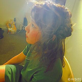 ヘアアレンジ ハーフアップ フェミニン ゆるふわ ヘアスタイルや髪型の写真・画像