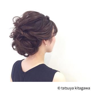 結婚式 外国人風 ヘアアレンジ 上品 ヘアスタイルや髪型の写真・画像