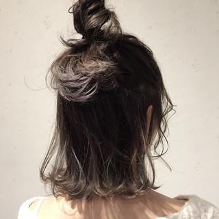 ゆるふわ 簡単ヘアアレンジ ボブ ブルージュ ヘアスタイルや髪型の写真・画像
