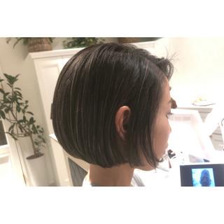 ハイライト ボブ 黒髪 スポーツ ヘアスタイルや髪型の写真・画像