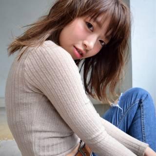 ミディアム マルサラ ストリート 大人かわいい ヘアスタイルや髪型の写真・画像