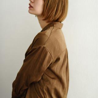 切りっぱなしボブ ショートボブ ナチュラル ミニボブ ヘアスタイルや髪型の写真・画像