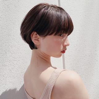 デート ピュア ショート エレガント ヘアスタイルや髪型の写真・画像
