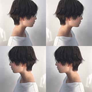 ショートヘア パーマ ショート マニッシュ ヘアスタイルや髪型の写真・画像 ヘアスタイルや髪型の写真・画像