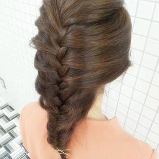 ロング 編み込み 簡単ヘアアレンジ ヘアピン ヘアスタイルや髪型の写真・画像 ヘアスタイルや髪型の写真・画像