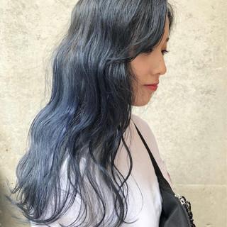 ネイビー ストリート 外国人風カラー ラベンダーアッシュ ヘアスタイルや髪型の写真・画像