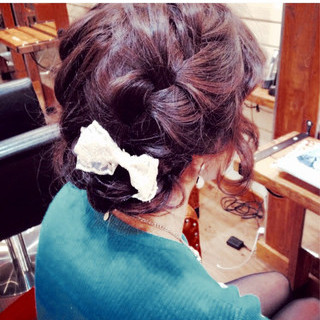 ヘアアレンジ ゆるふわ 大人かわいい ミディアム ヘアスタイルや髪型の写真・画像 ヘアスタイルや髪型の写真・画像