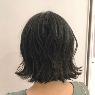ボブヘアー 切りっぱなしボブ ナチュラル モテボブ ヘアスタイルや髪型の写真・画像
