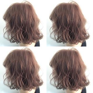 ボブ パーマ アッシュ ハイライト ヘアスタイルや髪型の写真・画像