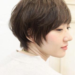 こなれ感 ベリーショート 小顔 ナチュラル ヘアスタイルや髪型の写真・画像 ヘアスタイルや髪型の写真・画像