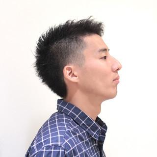 アシメバング ストリート ボーイッシュ ショート ヘアスタイルや髪型の写真・画像