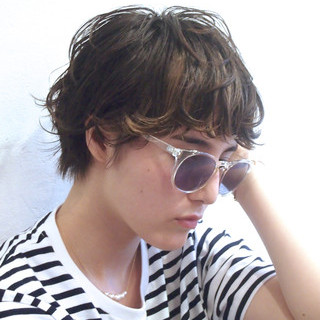 ウェットヘア パーマ ショート ストリート ヘアスタイルや髪型の写真・画像 ヘアスタイルや髪型の写真・画像