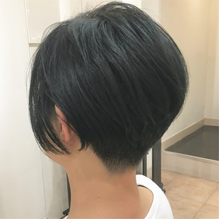 刈り上げ女子 ミニボブ ショートヘア 刈り上げ ヘアスタイルや髪型の写真・画像