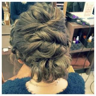 ルーズ アップスタイル ねじり ヘアアレンジ ヘアスタイルや髪型の写真・画像