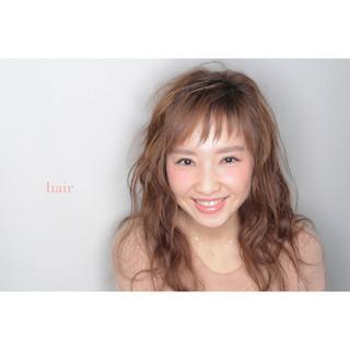 モテ髪 簡単 フェミニン セミロング ヘアスタイルや髪型の写真・画像