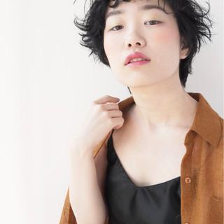 透明感 ショート ナチュラル リラックス ヘアスタイルや髪型の写真・画像