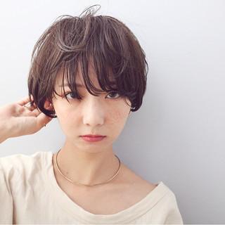 ベリーショート ショートヘア マッシュショート ミニボブ ヘアスタイルや髪型の写真・画像