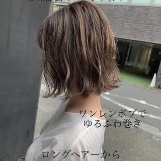 まとまるボブ ショートボブ ショートヘア 切りっぱなしボブ ヘアスタイルや髪型の写真・画像