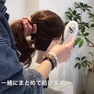 ヘアアレンジ ロング 簡単ヘアアレンジ まとめ髪 ヘアスタイルや髪型の写真・画像