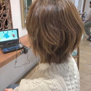 ハイライト マッシュウルフ マッシュ ブラウンベージュ ヘアスタイルや髪型の写真・画像