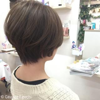 ショートボブ グラデーションカラー 外国人風 ショート ヘアスタイルや髪型の写真・画像
