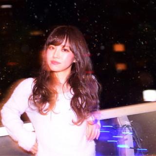 ロング ゆるふわ 冬 ハイライト ヘアスタイルや髪型の写真・画像