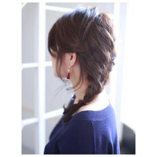 ミディアム 簡単ヘアアレンジ ヘアアレンジ ショート ヘアスタイルや髪型の写真・画像