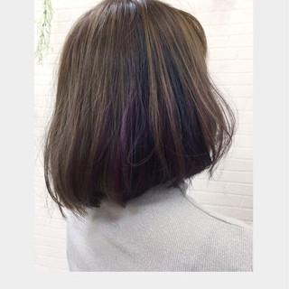 ナチュラル ボブ デート 透明感 ヘアスタイルや髪型の写真・画像 ヘアスタイルや髪型の写真・画像