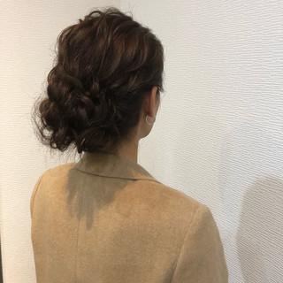アップスタイル フェミニン ヘアセット 結婚式 ヘアスタイルや髪型の写真・画像