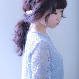 女子会 ローポニーテール ヘアアレンジ ロング ヘアスタイルや髪型の写真・画像