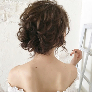 ヘアアレンジ パーティ 大人女子 ミディアム ヘアスタイルや髪型の写真・画像
