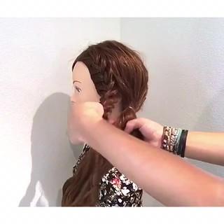 ロング 簡単ヘアアレンジ 涼しげ 色気 ヘアスタイルや髪型の写真・画像